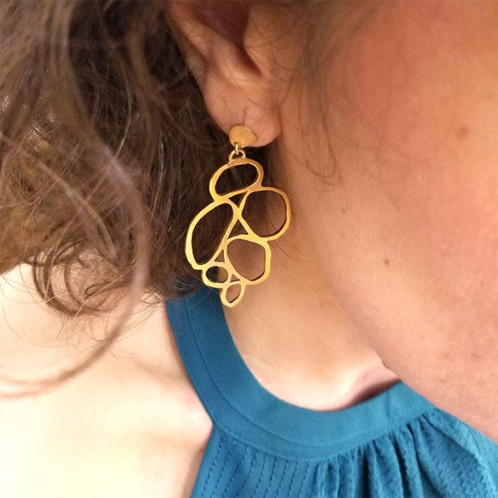 boucle d'oreille bijoux lyon créateur vermeil