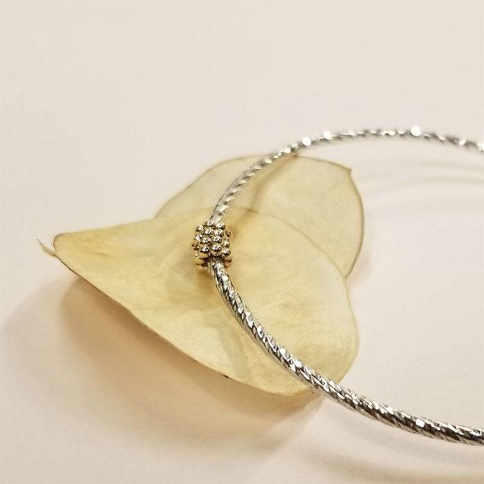 Bracelet argent et gold-filled bijouterie lyon bijou créateur